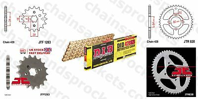 DID- All Gold Heavy Duty Chain Kit 428HDGG 118 fits Yamaha YBR125 05-06