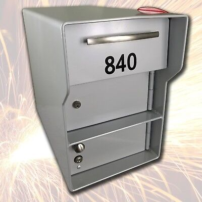 FORT KNOX MAILBOX ~ Senator AND Steel Post ~ w/ Separate Locking Package Area