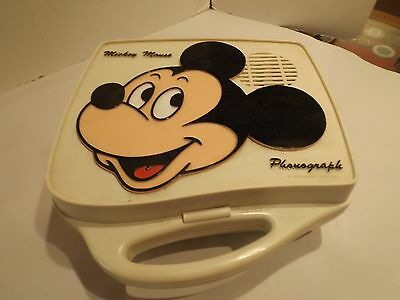 Vintage Mickey Mouse Record Phonograph WORKING CONDITION