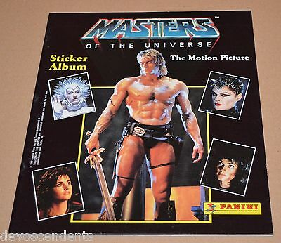 1987 PANINI Masters Of the Universe Empty Album Motu He man Skeletor Movie