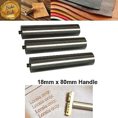 18mm x 80mm Large Metal Handle For Branding Iron Logo Leather Stamp Hammer Tools