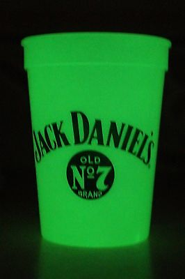 Jack Daniel's Old No. 7 Brand Whiskey Glow In The Dark Beer Pong Plastic Cup New