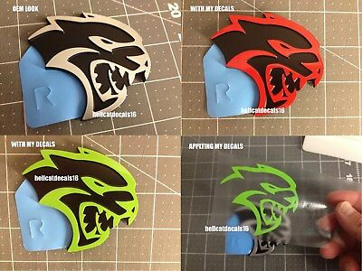 Dodge Charger Challenger Hellcat Emblem Overlay Decal 2015 2016 2017 18 Style 1