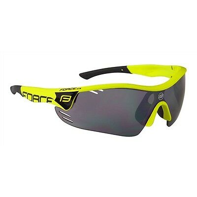 Occhiali ciclismo FORCE Pro Race fluo-nero