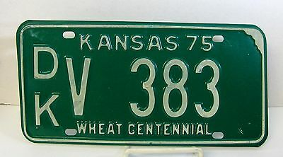 1975 Dickinson County Kansas License Plate#DK-V-383 Passenger ManCave Chevy Ford