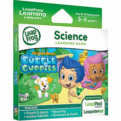 LeapFrog LeapPad 1 2 3 Ultra Game Bubble Guppies (LeapsterGS & Explorer)