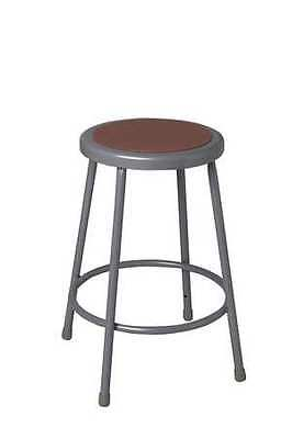 NATIONAL PUBLIC SEATING 6218 Stool, Steel, Gray, 18 In. H