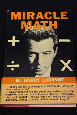 Rare 1966 First Edition Miracle Math  by Harry Lorayne with Dustjacket