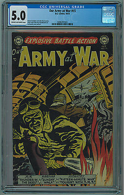 Our Army At War #15 Cgc 5.0 Swastika Cover Cream To Off-White Pages Golden Age