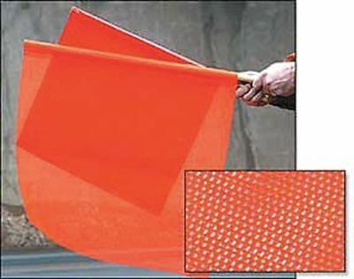Handheld Warning Flag,Fluorescent Orange ZORO SELECT 1600