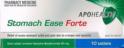 => STOMACH Ease 10 TABLETS RELIEVES STOMACH ACHE DUE TO SPASMS = Buscopan Forte