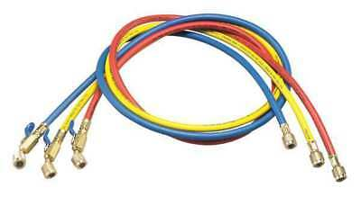 YELLOW JACKET 29983 Manifold Hose Set,36 In,Red,Yellow,Blue