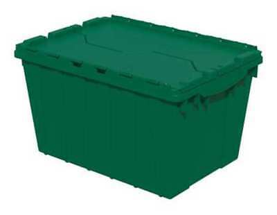 Green Attached Lid Container, 12 gal Capacity, 39120GRN, Akro-Mils