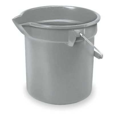 RUBBERMAID FG296300GRAY Brute Bucket,2-1/2 gal.,Gray