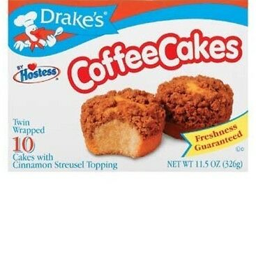 Drake's coffee cakes with cinnamon streusel topping  10 ct