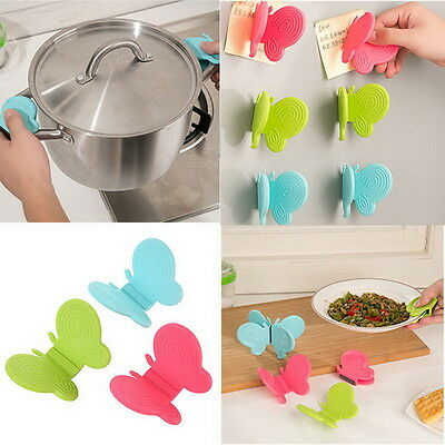 Butterfly-Shaped Silicone Anti-Scald Device Kitchen Tool Gadget Random   12