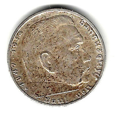 Switzerland 1903 B  2 Francs Silver Coin