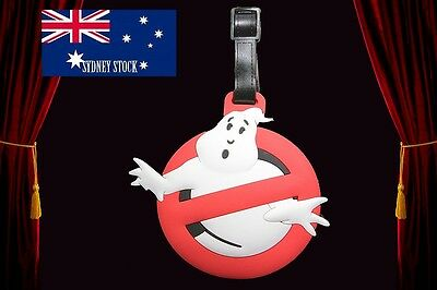 Ghost Buster Logo Silicone PVC Cartoon Travel Luggage Suitcase Tag School Bag