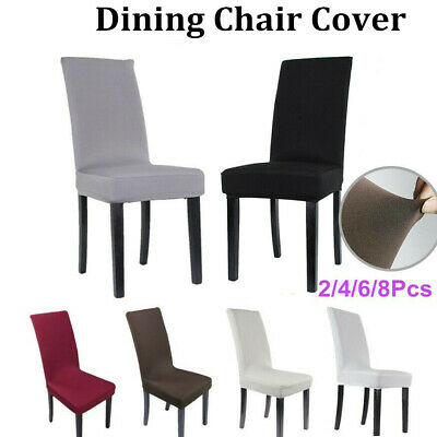 New 4/6/8pcs Stretch Dining Chair Cover Removable Slipcover Dining Room Kitchen