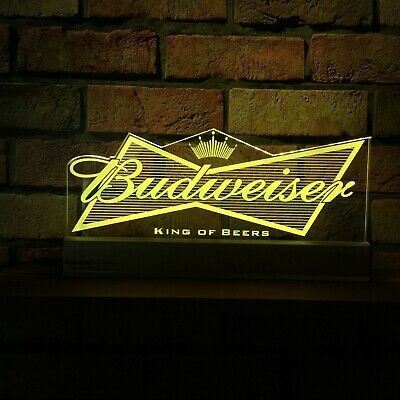 Budweiser LED Sign,Edgelit,Bar,Mancave,Led,Remote Control,Light,Gift