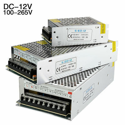 Power Supply AC to DC Adapter PSU 12V 1.25/2/3/5/8.5/10/15/20/30A for LED Strip