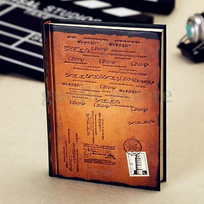 Hardcover Vintage Paper Writing Blank Page Diary Book Travel Journal Notebook US