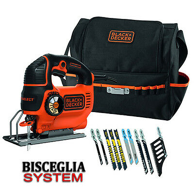 Black+Decker Seghetto alternativo 620W Autoselect con borsa e 10 lame KS901SESA