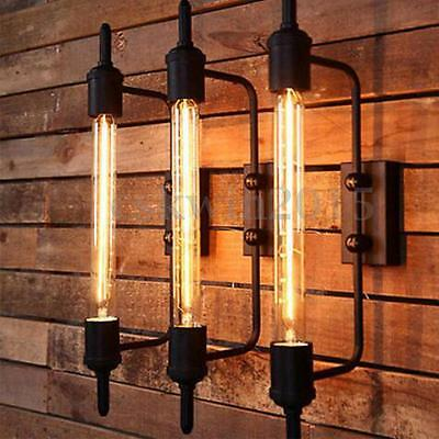 Industrial Vintage Iron Long Wall Lamp Light Cage Home Fixtures Lighting No Bulb