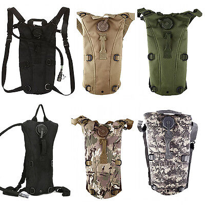 3L Backpack Water Bag Army Climbing Hiking Hydration Pack Assault Pouch Bladder