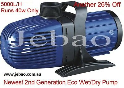 New Jebao CM 5000 L/H 40w Energy-Saving Eco Pump With 10M Cable +1 Year Warranty