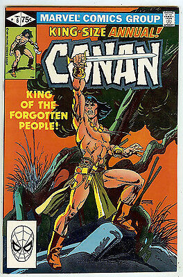 CONAN ANNUAL #6 (1981 near mint) Gil Kane artwork