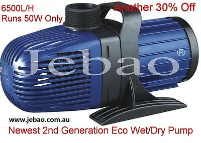 New Jebao CM 6500 L/H 50w Energy-Saving Eco Pump + 10M Cable + 1 Year Warranty
