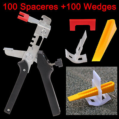 200 Large Tile Flooring Wall Leveling Spacer D Type System/Pliers Tool