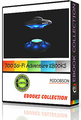 (MD295)OVER 700 Sci Fi Adventure Book Collection Kindle, iPad, Kobo, Nook Extras