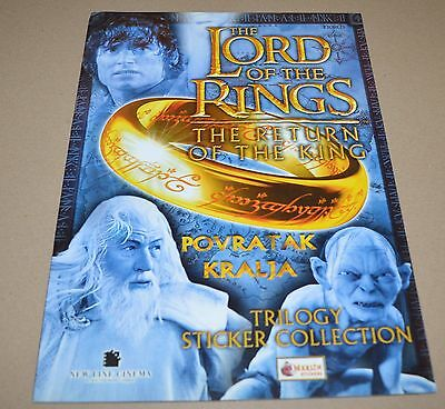 2003 MERLIN The Lord Of The Rings The Return of the King Empty Album