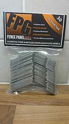 Fence Panel Grips 30 Pack - Stop Fence Panels Rattling Banging Prevent Theft Dam
