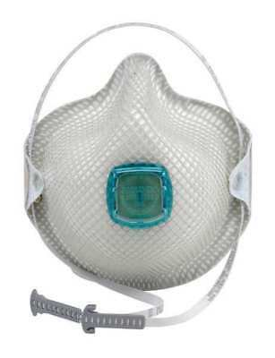 MOLDEX 2730N100 N100 Disposable Respirator w/ Valve, M/L, White, PK5