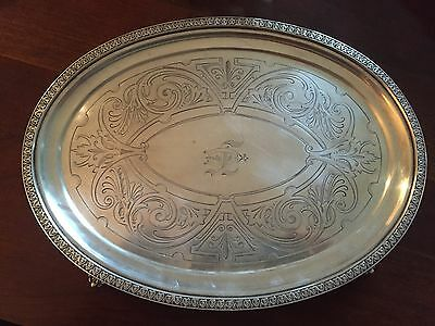 Oval Footed Salver Coin Silver Wood and Hughes 1860 355 Grams