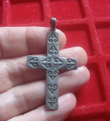 Very nice byzantine silver cross