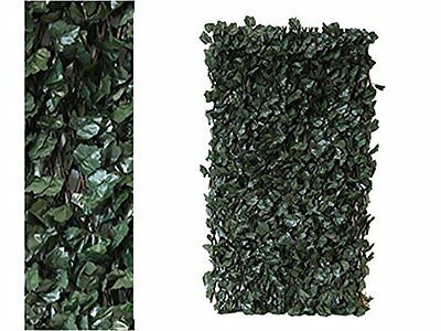 Artificial Ivy Screening on Willow Trellis 2x1m Fence Hedge Maple Leaf Decor