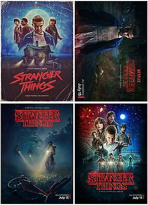 4pc Stranger Things 2016 TV Show Postcard Promo Card Photo Card Collector Card B