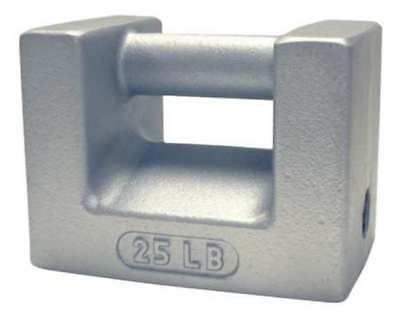 RICE LAKE WEIGHING SYSTEMS 12833 Calibration Weight,25 lb.,Painted