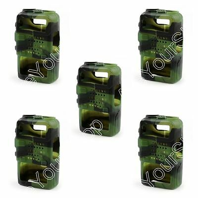 5x Rubber Soft Handheld Case Holster For BaoFeng UV-5R/5RA/5RE Plus Radio Green