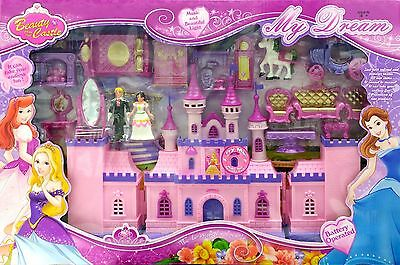 Children Kids Sleeping Beauty Role Play Pretend Toy Castle Game Set Xmas Gift