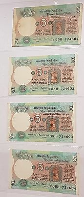Rs. 5 - 100 notes continuous/sequential UNC - Manmohan Singh