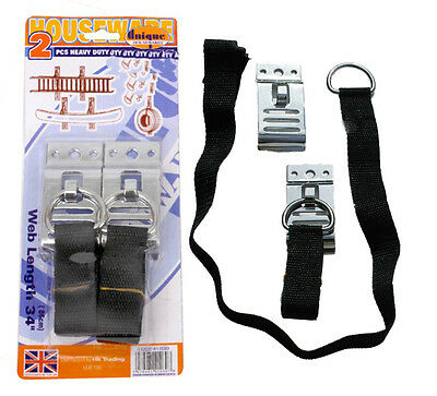 2Pc 100 Lbs Heavy Duty Adjustable Straps Wall Storage Hooks Ladders Bikes Tyres