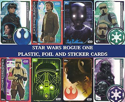 Topps Star Wars ROGUE ONE Trading cards - Plastic card, Sticker cards and Foils