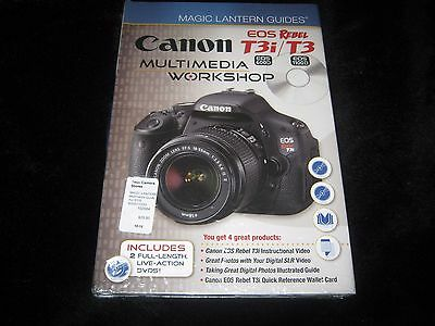 CANON EOS REBEL T3i / T3 MAGIC LANTERN GUIDE / MULTIMEDIA WORKSHOP / NEW SEALED
