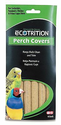 8 in 1 Ecotrition Perch Covers for Cockatiels Parakeets Finches & Other 6PK