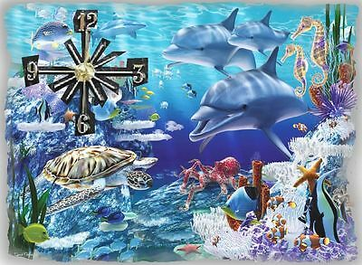 Dolphins 2 Wall Clock  Gr8 Gifts Handmade